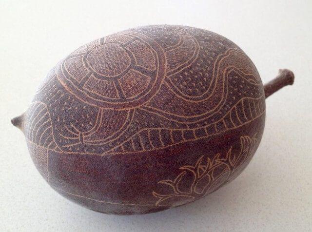 Carved Boab Nut