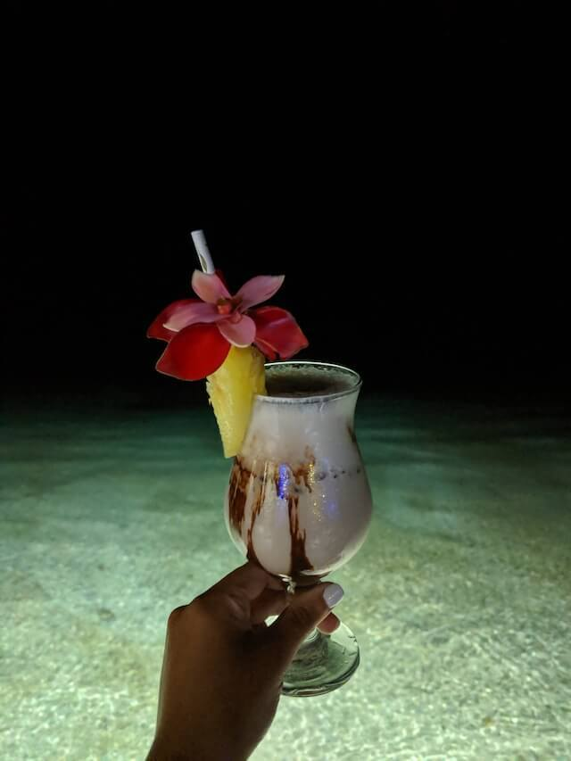 Creamy cocktail in Samoa