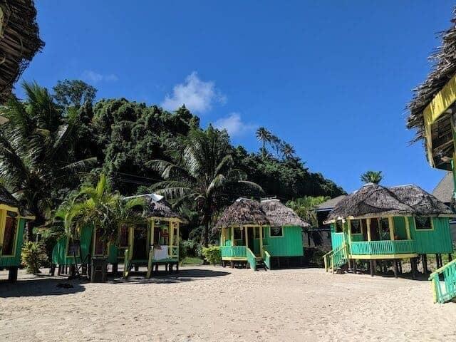Fales at Lalomanu Beach Samoa