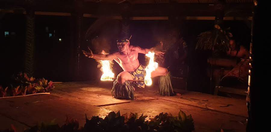 Fire Dancer in Samoa