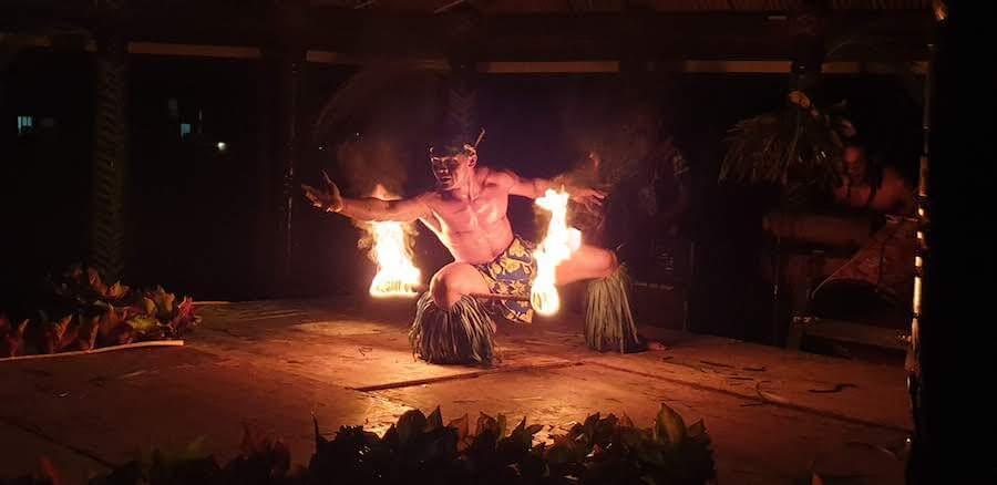 Fire Dancer in Samoa
