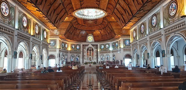 Inside the Cathedral in Samoa