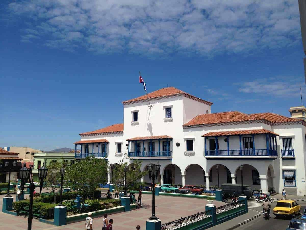 The White Ayuntamiento (Town Hall) Building - visiting is one of the top things to do in Santiago de Cuba