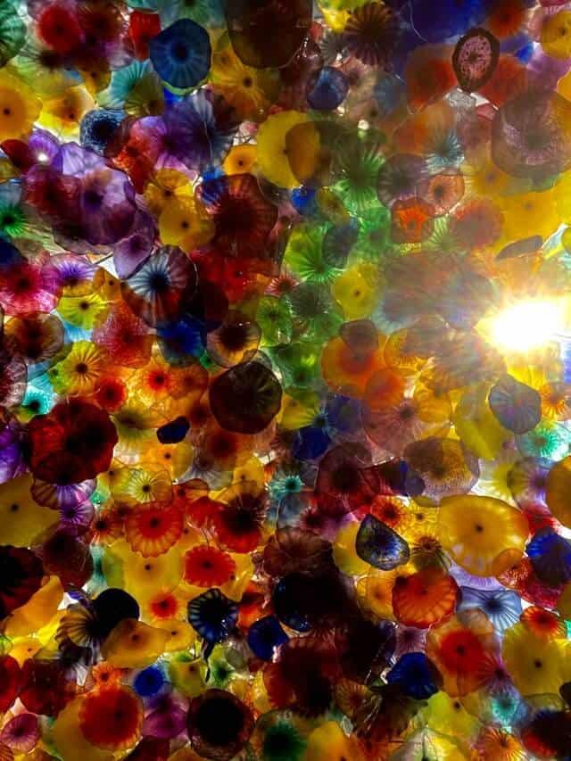 Multicoloured Chandelier at Bellagio Las Vegas