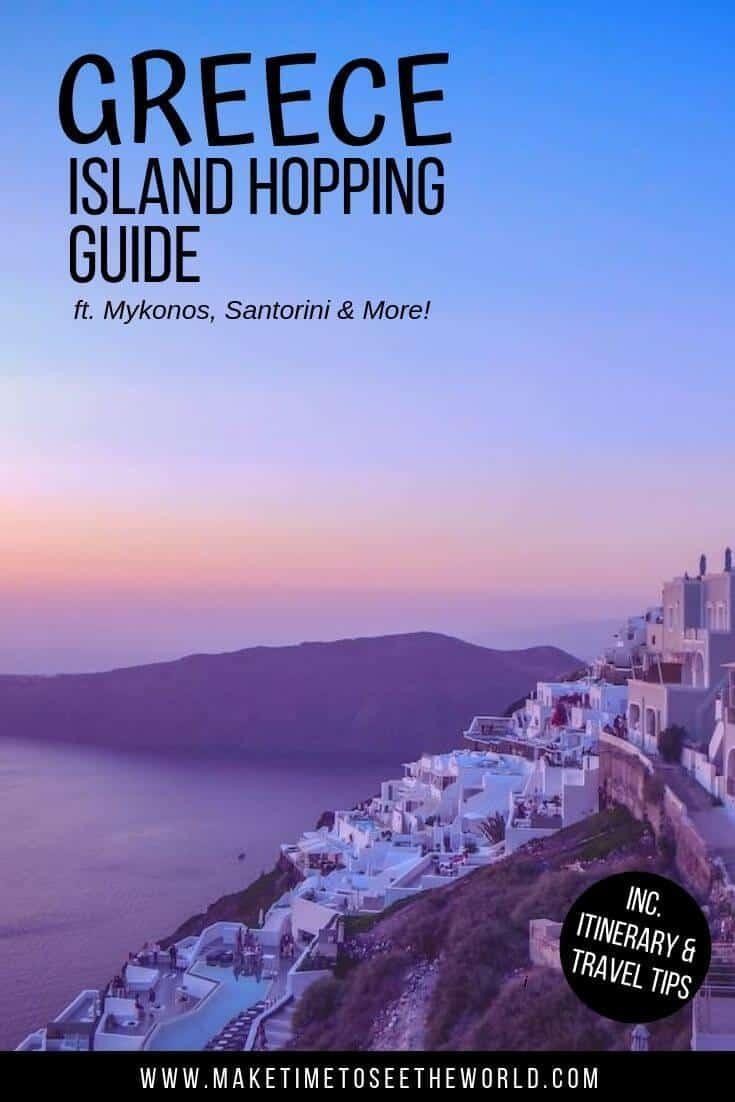 Pin image for DIY Greek Island Hopping Guide ft. Santorini
