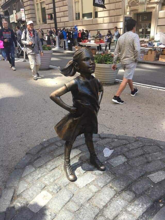 Fearless Girl Sculpture New York