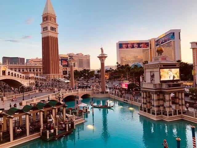 Lagoon at the Venetian Hotel Las Vegas