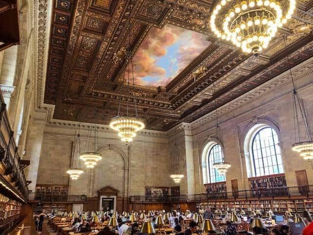 Interior shot of New York Library