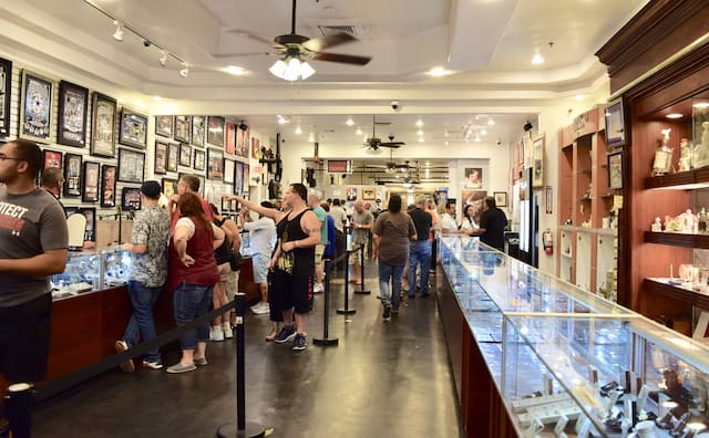 Interior shot of the famous Pawn Shop in Las Vegas