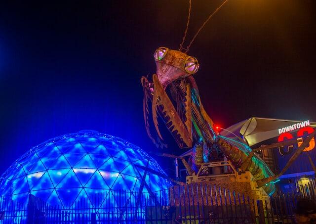 Praying Mantis at the Downtown Container Park Las Vegas
