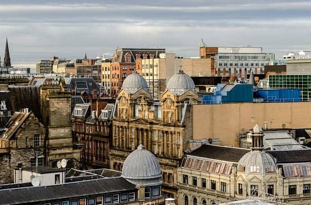 View over the city from the Glasgow Lighthouse