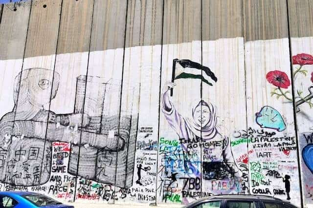 Grafitti on the Wall of the West Bank on the Palestine side