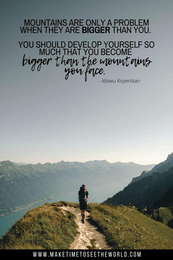 Idowu Koyenikan Mountain Quote -