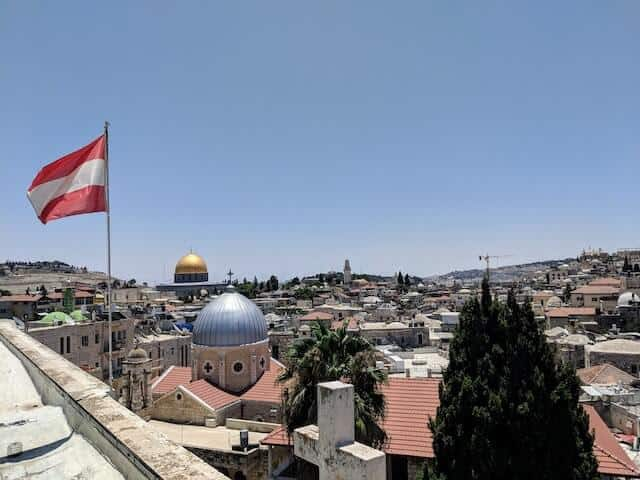 View from the roof of the Austrian Hospice in Jerusalem