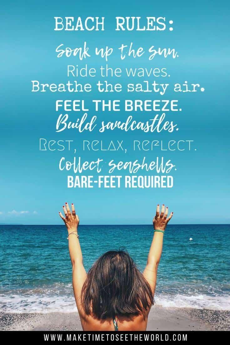 Beach rules beach quote