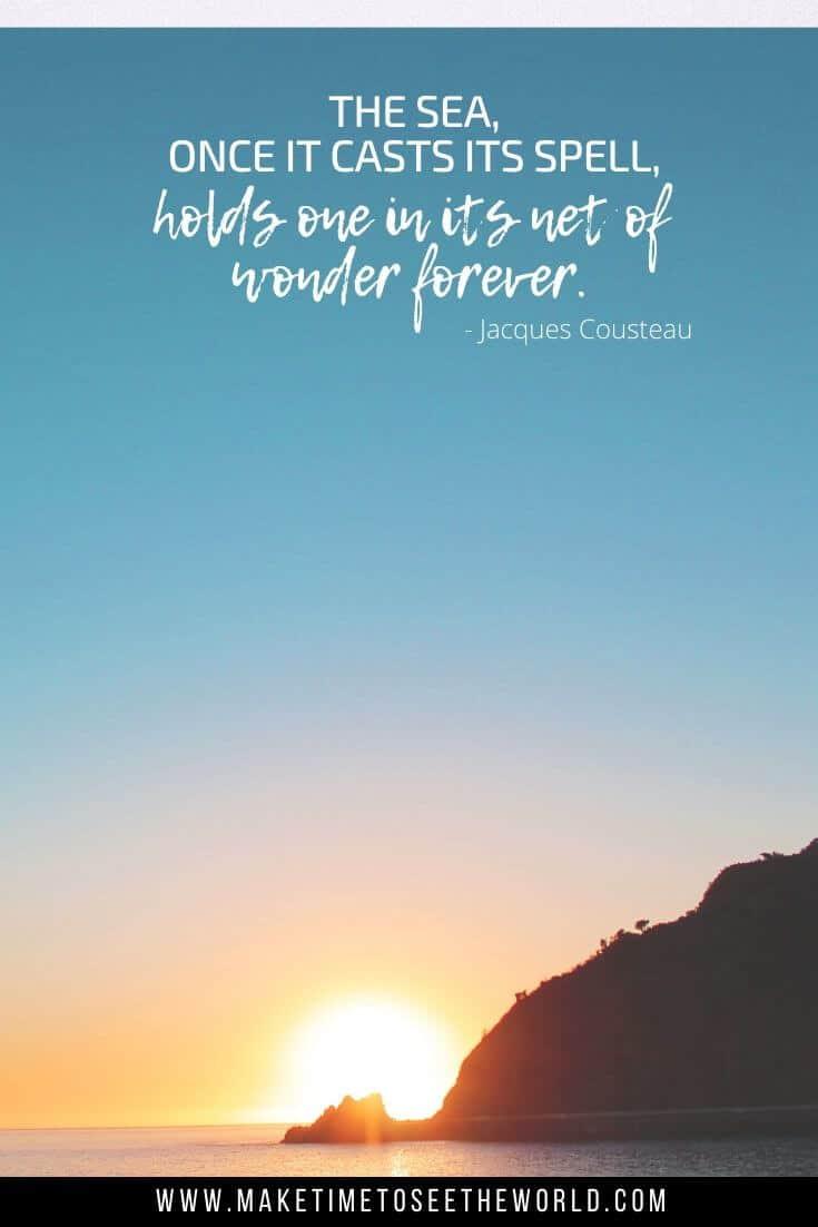 Jacques Cousteau beach quote