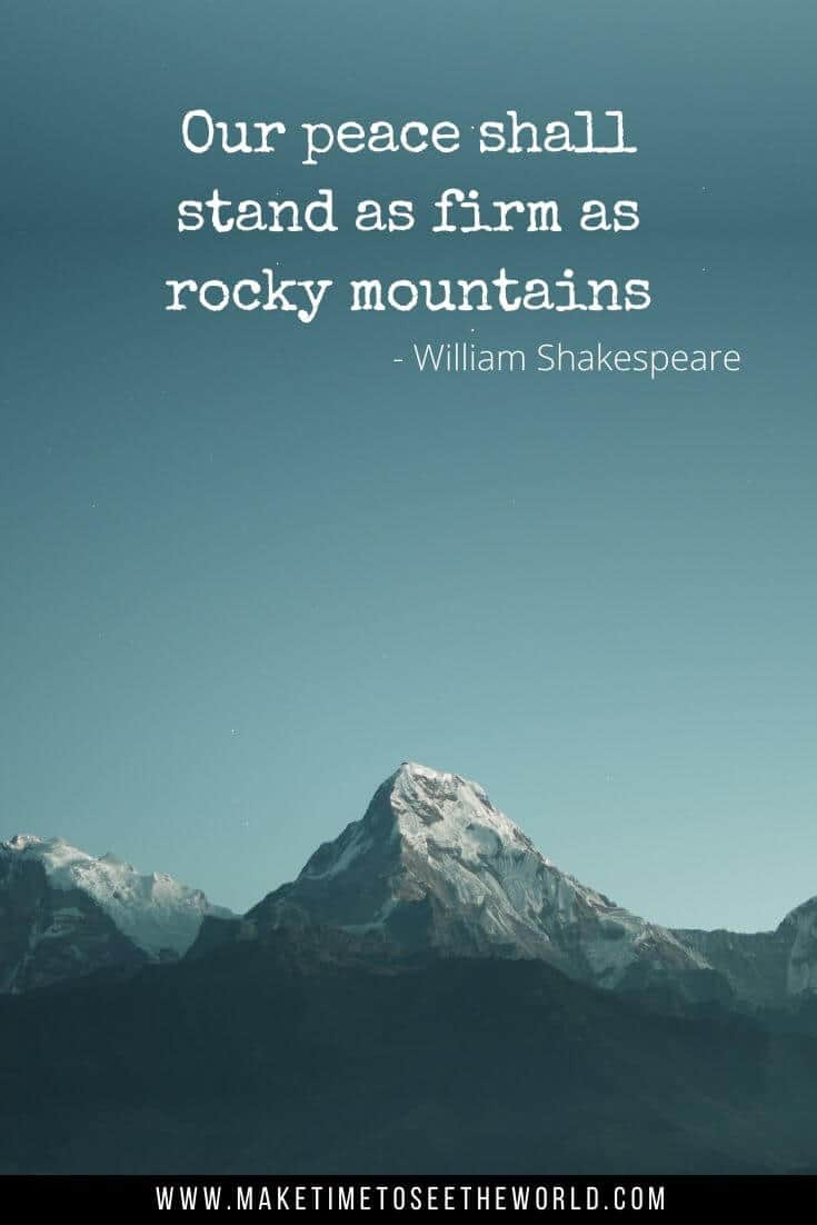 Mountain Quote by William Shakespeare to Inspire Your Next Adventure
