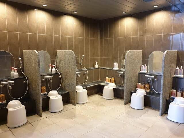 Onsen Communal Washing Area