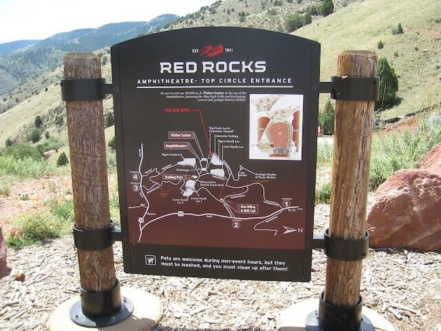 Red Rocks Park & Ampitheater Sign