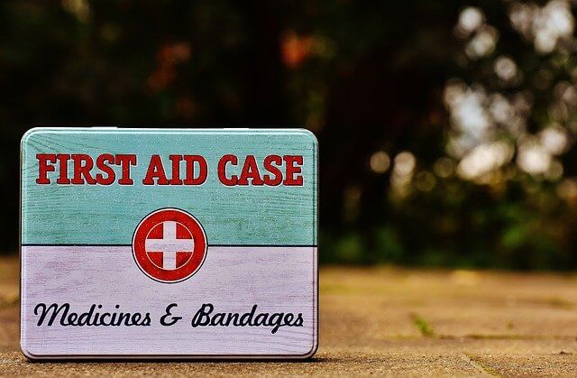 First Aid Kit on a road trip
