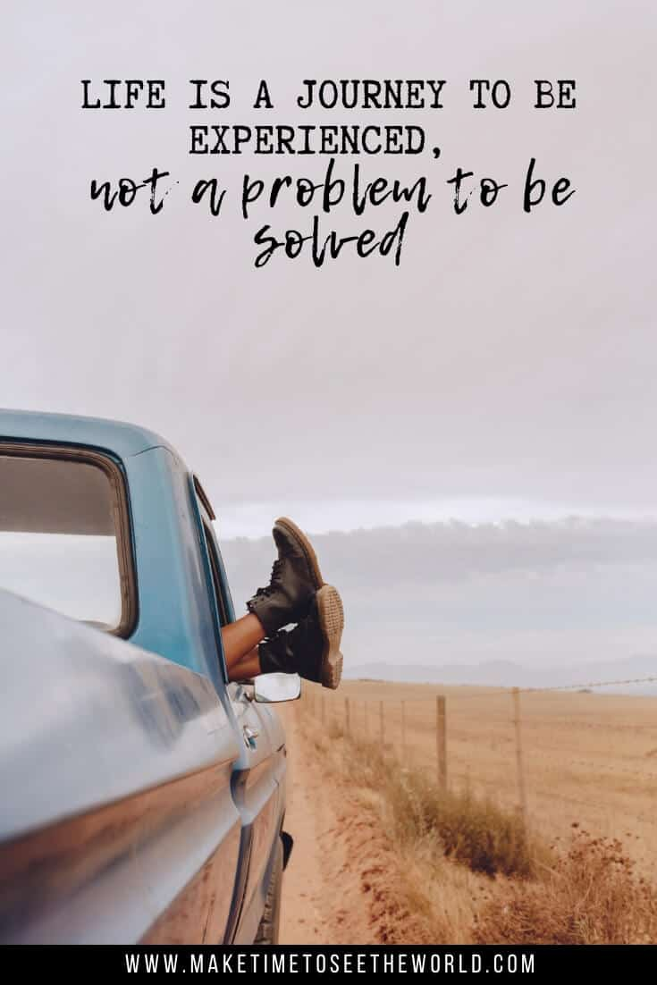 Disney quotes about adventure - life is a journey to be experienced, not a problem to be solved