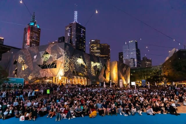 Federation Square during the Australian Open