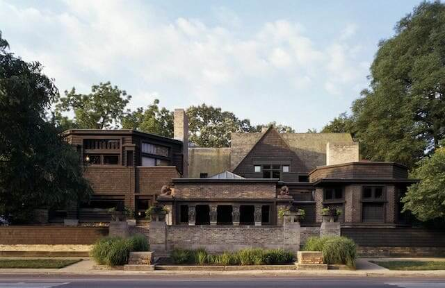 Frank Lloyd Wright's Oak Park Home Studio, Chicago