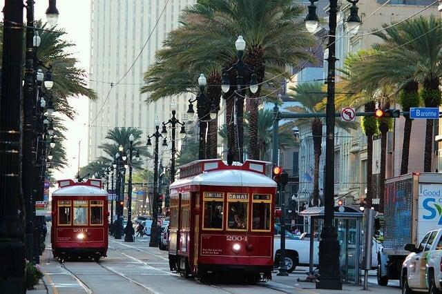 St Charles Street Car New Orleans
