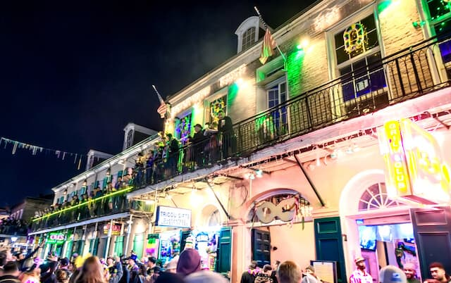 Party on Bourbon Street New Orleans