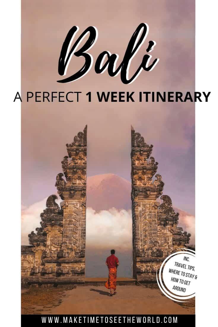 Perfect Bali Itinerary