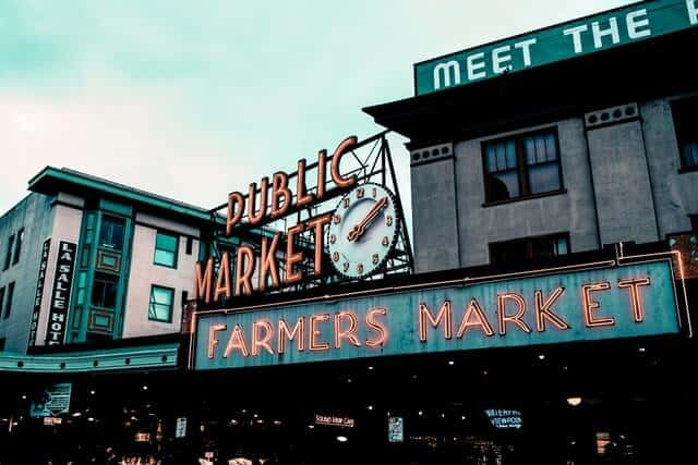 Seattle Farmers Market at Pike Place Seattle Washington