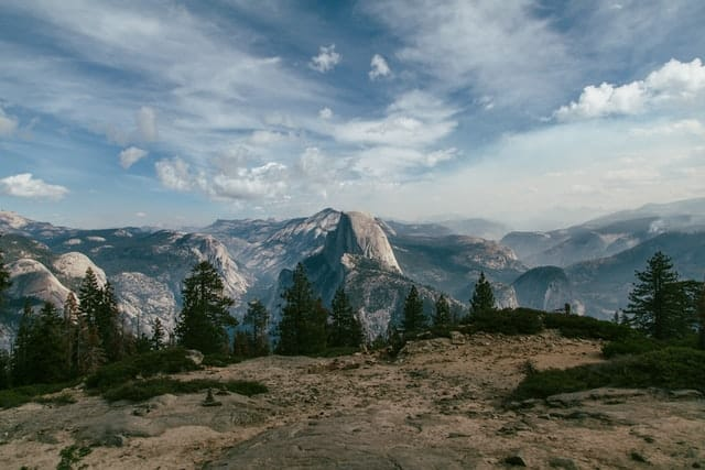 View of Yosemite Vally from Sentinel Dome