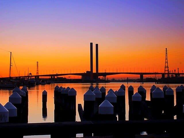Sunset over the Bolte Bridge