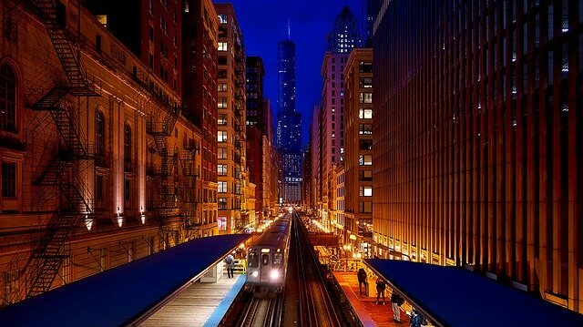 Train Line in Chicago