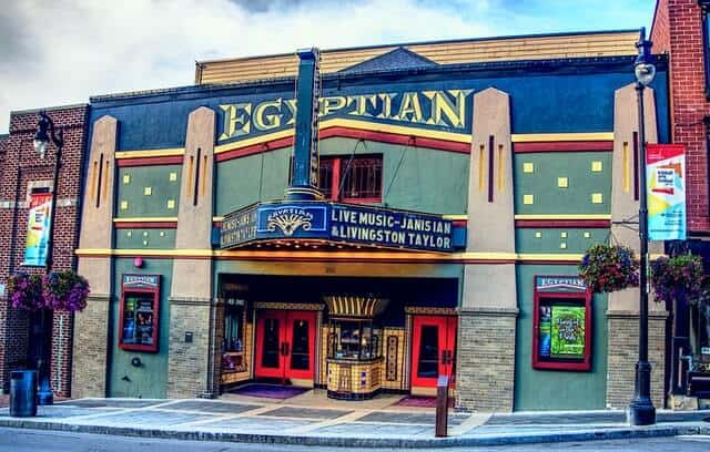 Facade of the Egyptian Theater Park City