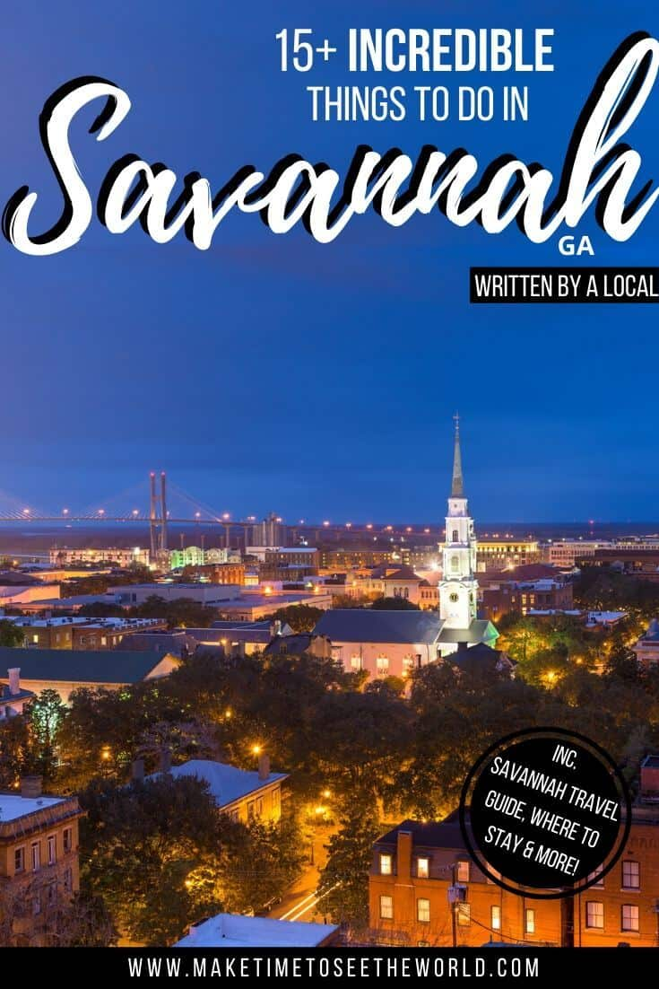 Things to do in Savannah for First Timers