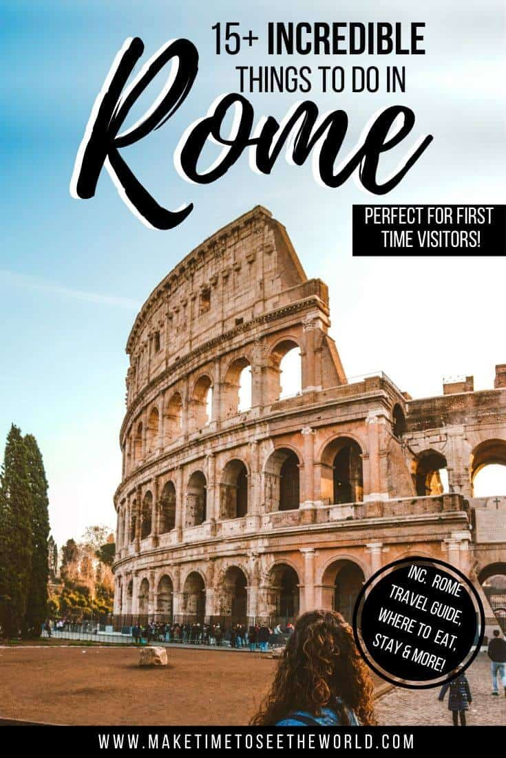 Things to do in Rome perfect for first time visitors (pin image)