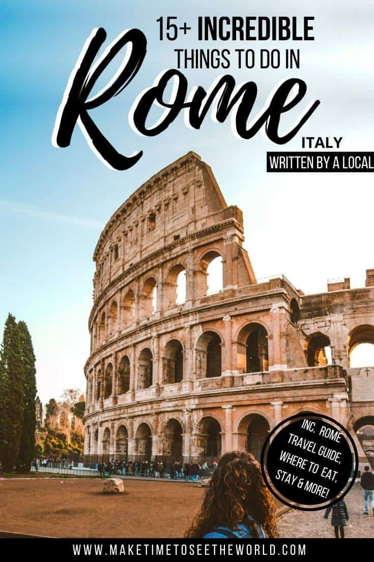 Things to do in Rome written by a local (pin image)
