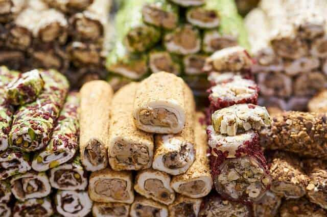Various Baklava in piles