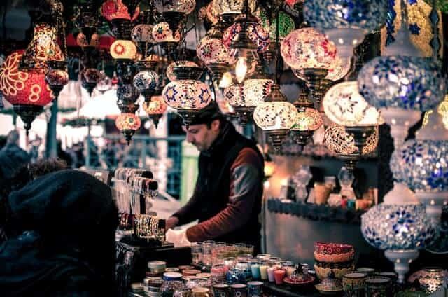 Lantern stall in the Grand Bazaar in Istanbul