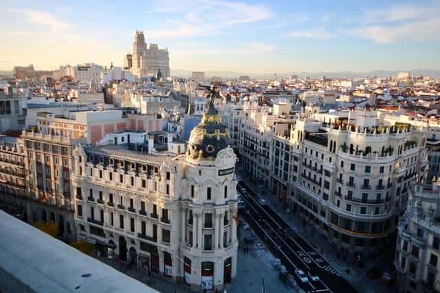 Aerial view of Madrid City