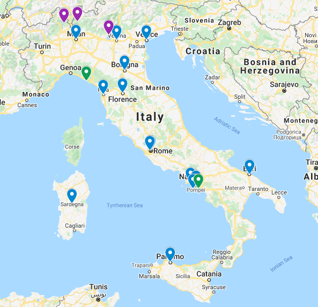 Map of the Best Places to Visit in Italy