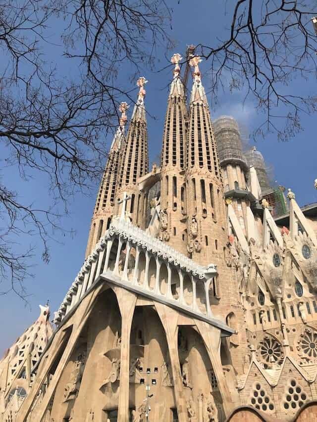 Barcelona's Sagrada Familia from the outside