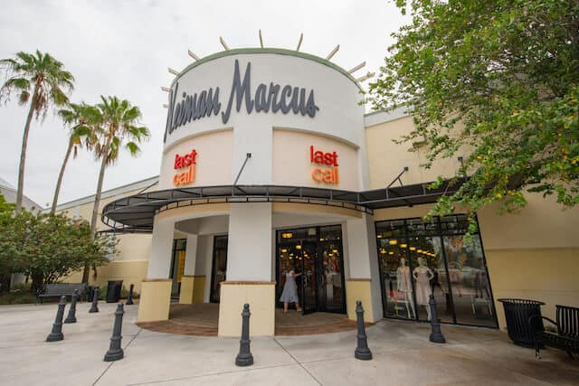 Facade of Neiman Marcus building at Sawgrass Mills Outlet Shopping Centre