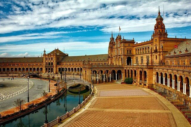 Plaza Espana in Seville Spain