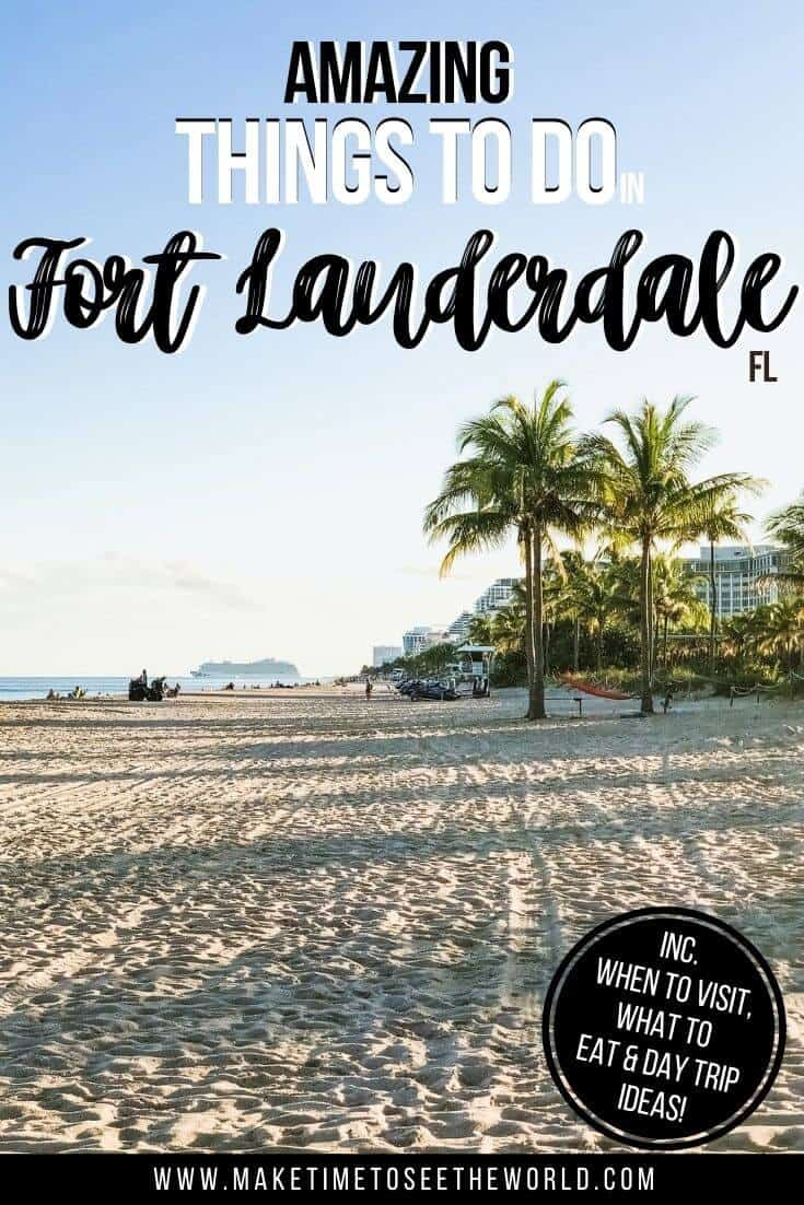 Things to do in Fort Lauderdale FL pin image of the beach with text overlay