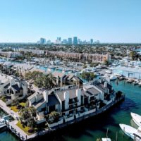 Aerial view of the waterways with houses lining the banks and boats parked around the edges - cover image foe the Top things to do in Fort Lauderdale FL