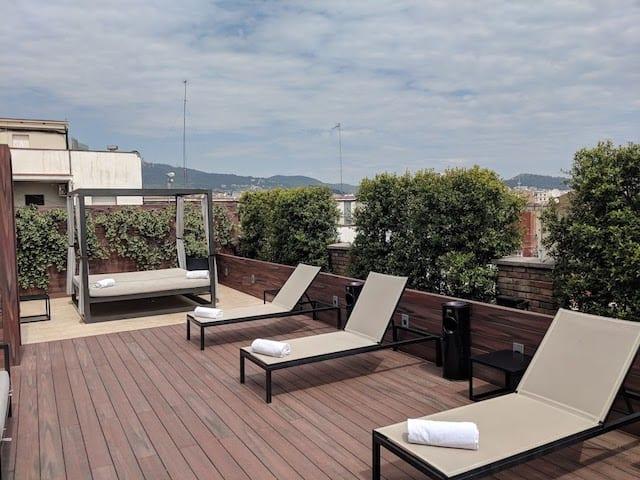 Rooftop of Hotel U232 in Barcelona