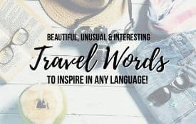 Link Tile: Beautiful, Unusual and Interesting Travel Words to Inspire in any language