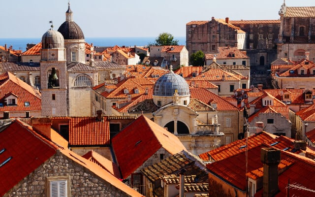 Terracotta Rooftops of Dubrovnik Old Town